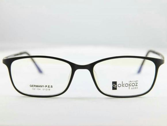 Okokoz Glass Optical glasses Germany P.E.S OZ - 104 Okokoz Black Frame