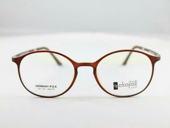 Okokoz Glass Optical glasses Germany P.E.S OZ - 103 Okokoz Brown Frae