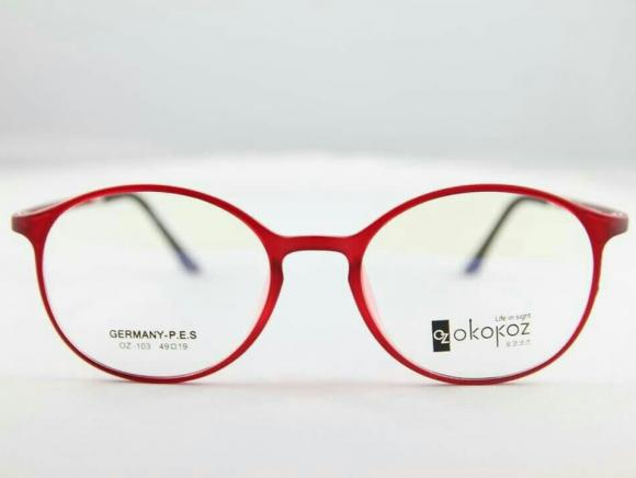 Okokoz Glass Optical glasses Germany P.E.S OZ - 103 Okokoz Red Frame