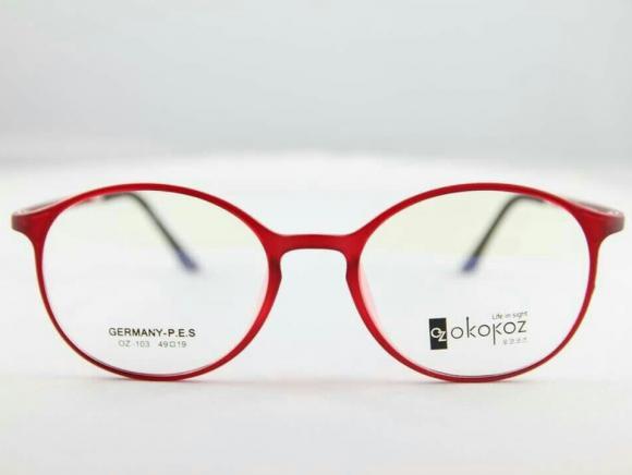 Okokoz Glass Optical glasses Germany P.E.S OZ - 103 Okokoz Red Frame