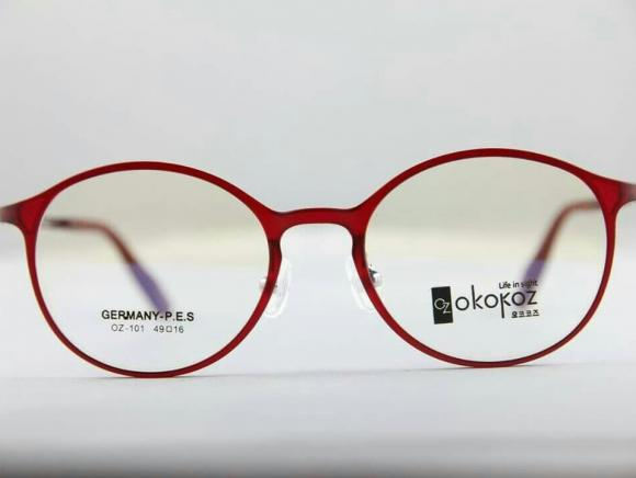 Okokoz Glass Optical glasses Germany P.E.S OZ - 101 Okokoz Red Frame