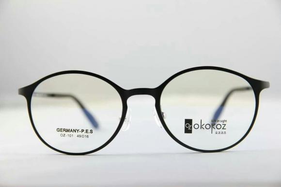 Okokoz Glass Optical Glasses Germany P.E.S OZ - 101 Okokoz Black Frame