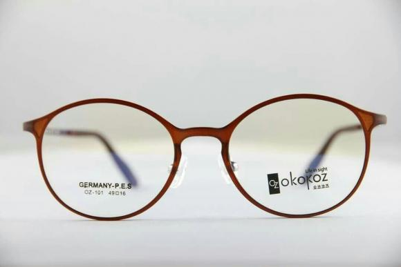 Okokoz Glass Optical glasses Germany P.E.S OZ - 101 Okokoz Brown Frame