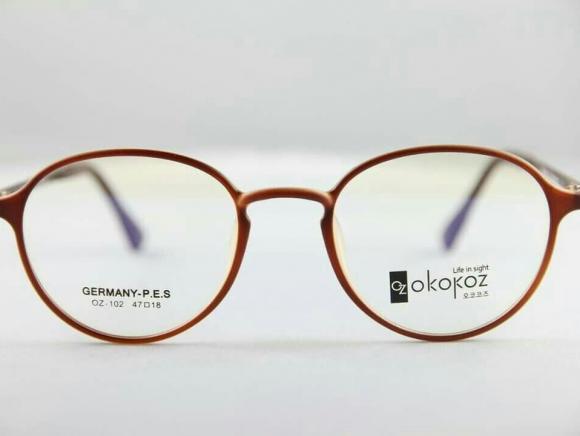 Okokoz Glass Optical glasses Germany P.E.S OZ - 102 Okokoz Brown Frame