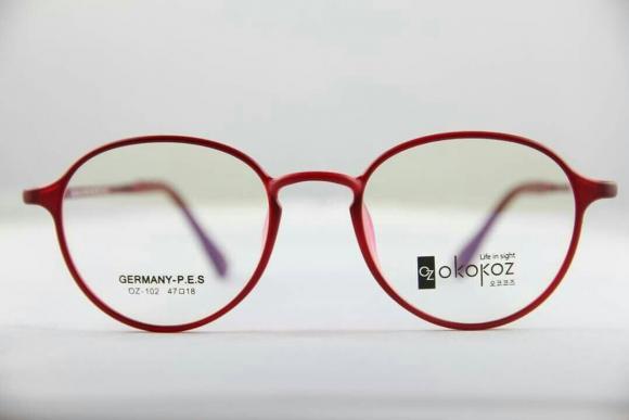 Okokoz Glass Optical glasses Germany P.E.S OZ - 102 Okokoz Red Frame