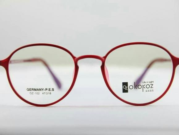 Okokoz Glass Optical glasses Germany P.E.S OZ - 102 Okokoz Red Frame