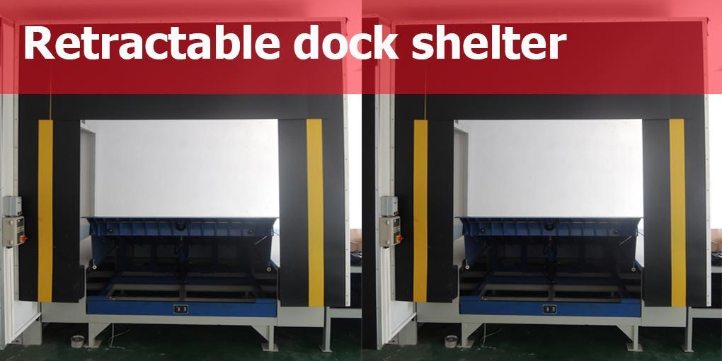 Retractable dock shelter